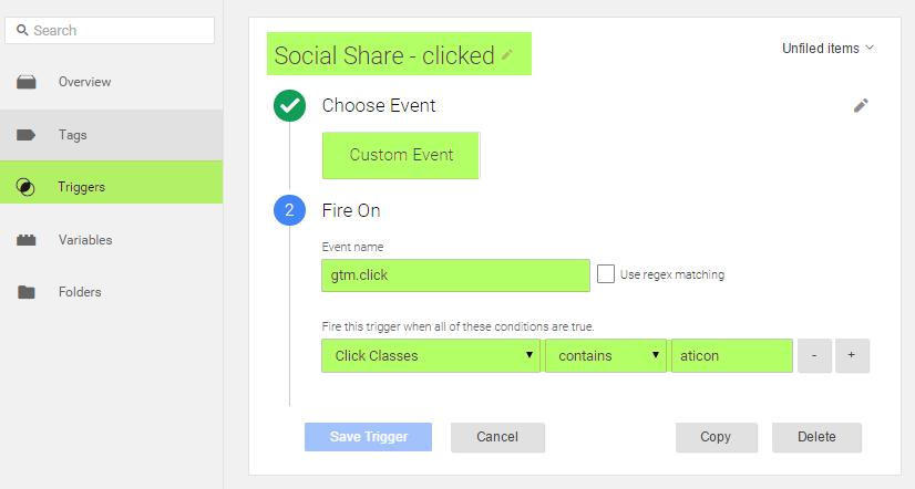 Trigger Social Share Event